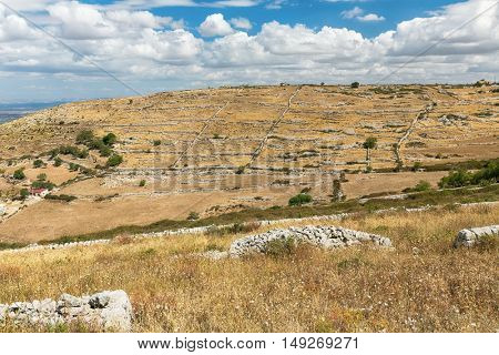 Inland of the island of Sicily in summer