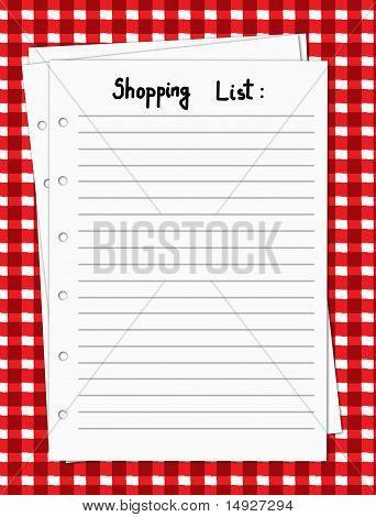 Blank Shopping List
