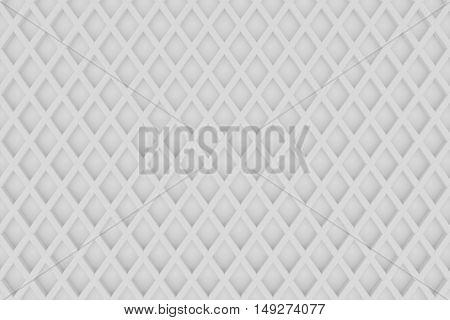 white diamond line grid background metal matrial 3d rendering