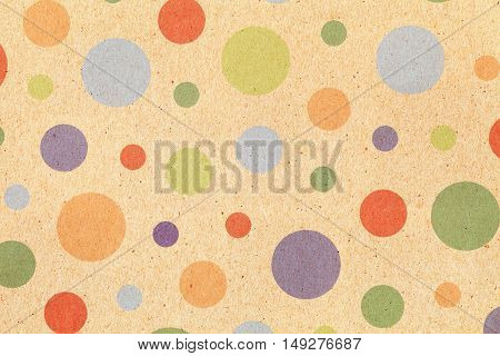Close up of dot pattern paper, texture background