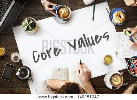 Core Values Vision Mission Concept