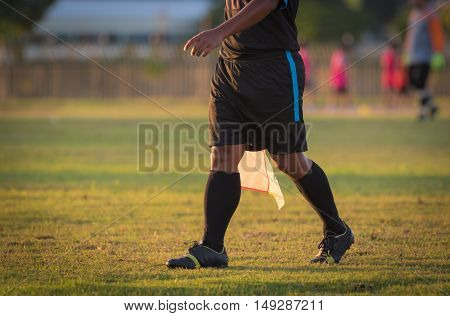 soccer or football assistant referee. soccer sport.