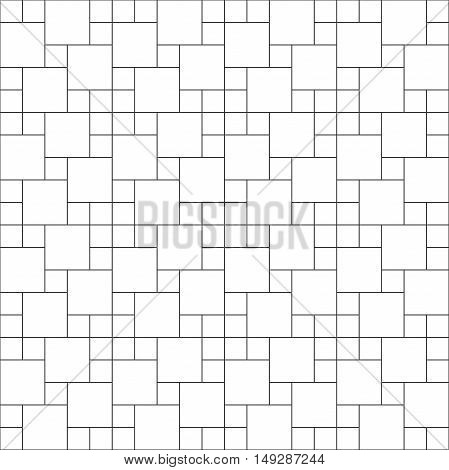 Set of thin line seamless pattern brick tile multi pin wheel, use for background, path, toilet wall, patio, wooden floor, ceramic tile, parquet floor, stack bond and texture