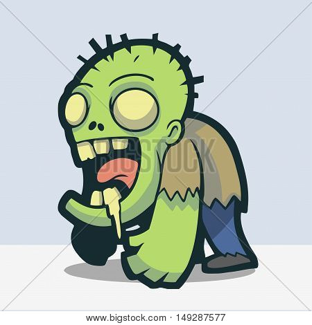 Cute Drooling zombie rise from the dead