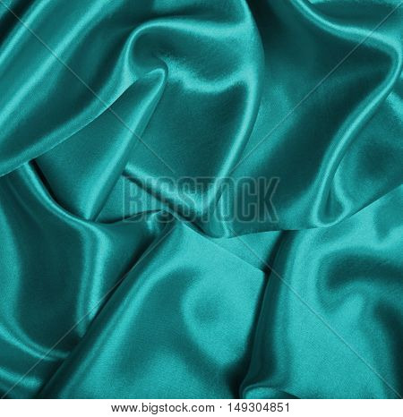 Smooth Elegant Blue Silk As Background