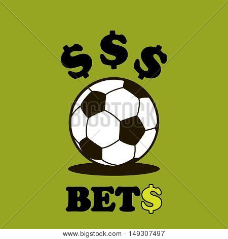 Sport logo betting soccer ball logo. Vector Illustration Isolated On White Background