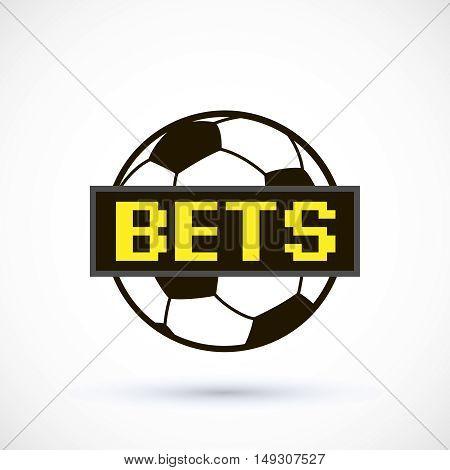 Sport logo betting soccer ball logo scoreboard. Vector Illustration Isolated On White Background
