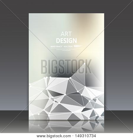 Bstract Composition, Polygonal Construction, Connecting Dots And Lines, A4 Brochure Title Sheet, Bac