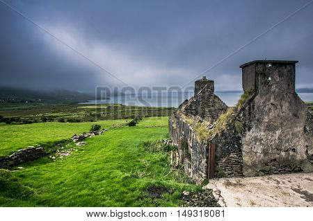 Old Derelict House On A Beautiful Kerry Location