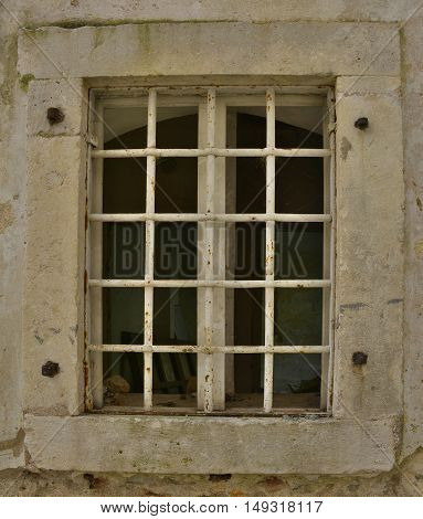 A window in an old building in the historic Montenegrin town of Herceg Novi.