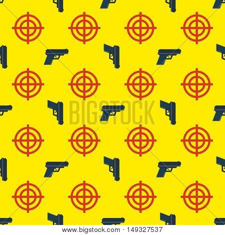 gun targets seamless pattern on yellow background 10eps