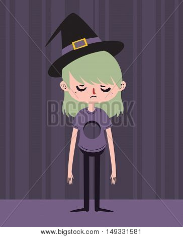 Sad Witch With Hole In Chest