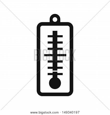 Thermometer indicates low temperature icon in simple style on a white background vector illustration