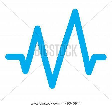 sound wave icon, blue sound wave icon