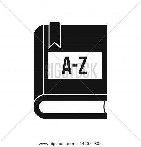 Dictionary book icon in simple style on a white background vector illustration