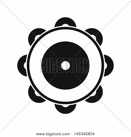 Tambourine icon in simple style on a white background vector illustration