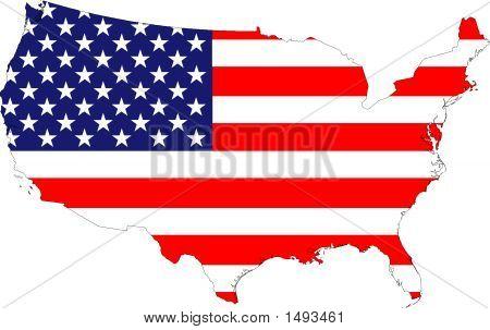 Vereinigte Staaten von Amerika Flagge Karte