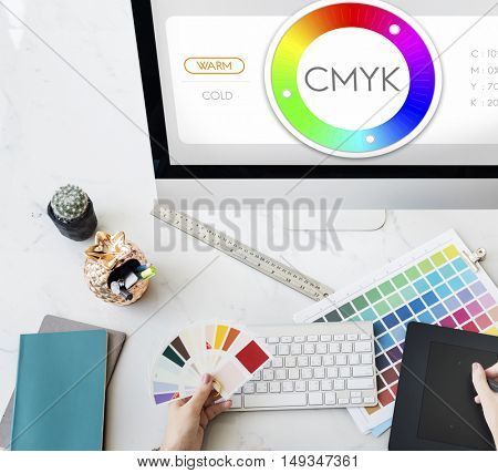 Color Swatch CMYK Design Spectrum Sample Concept poster