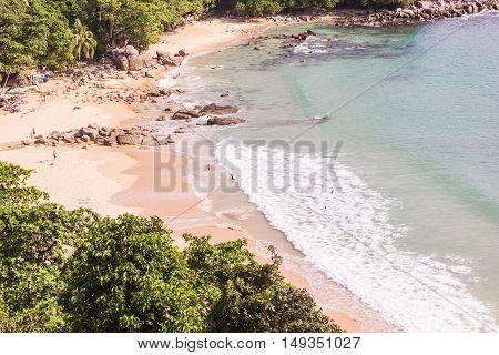 Laem Sing beach Phuket Thailand. It is very beautiful and peaceful beach.