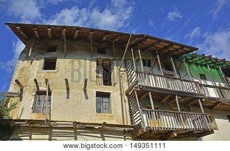 A derelict building in the small Italian village of Merso di Sopra Friuli Venezia Giulia.
