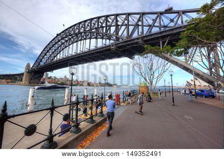 SYDNEY, AUSTRALIA, 13 MARCH 2016 - Sydney harbour bridge. Iconic and world famous landmark of Australia