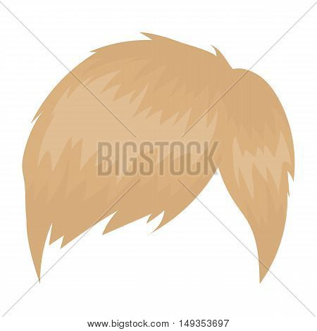 Man's hairstyle icon in cartoon style isolated on white background. Beard symbol vector illustration.