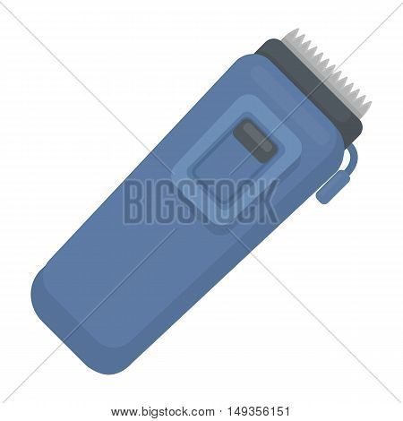 Electrical trimmer icon in cartoon style isolated on white background. Hairdressery symbol vector illustration.
