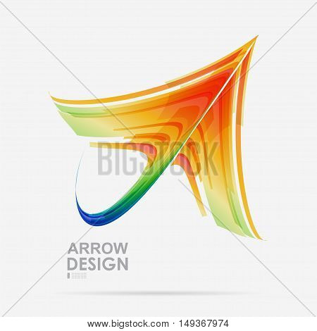 Arrow colored design on a white background