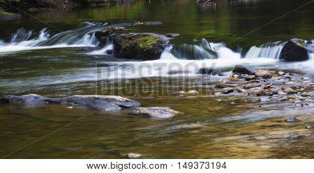 White water seems to form where Wilson Creek runs over rocks