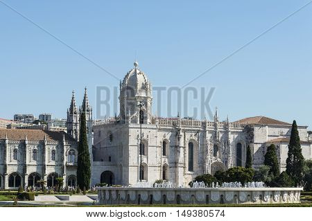 Lisbon Portugal - 17th July 2016: The Jeronimos Monastery or Hieronymites Monastery