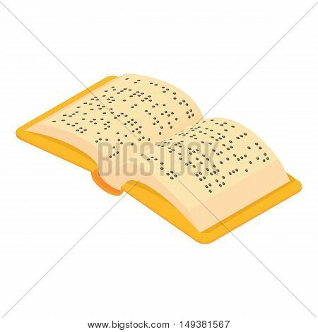 Book Braille for blind icon in cartoon style isolated on white background. Reading symbol vector illustration