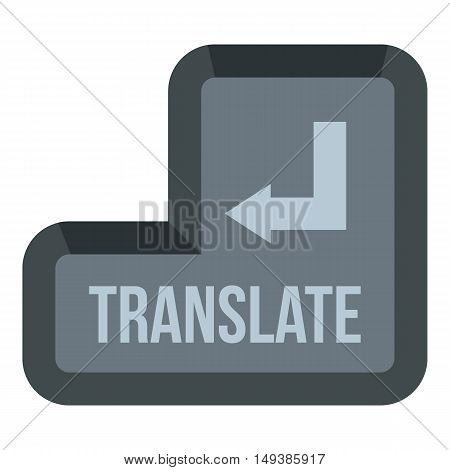 Translate button icon in flat style isolated on white background. Translation symbol vector illustration