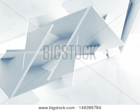 3 D Background, Chaotic Polygonal Blocks Pattern