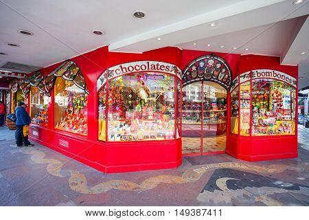 Chocolate Store Showcase, Bariloche