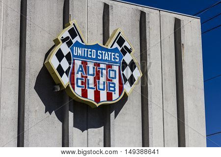 Indianapolis - Circa September 2016: United States Auto Club Headquarters. USAC Sanctions Many Auto Races in the US I