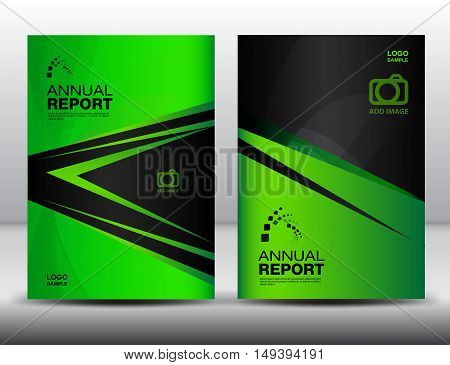 Green Cover template, annual report ,business brochure flyer ,magazine cover ,template cover ,design layout vector book cover booklet advertisement presentation catalog background