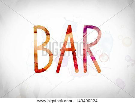 Bar Concept Watercolor Word Art