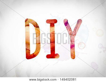 Diy Concept Watercolor Word Art
