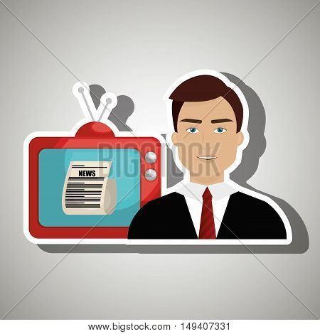 reporter tv news vector illustration eps 10