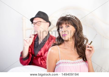 Smoking Princess And Playboy