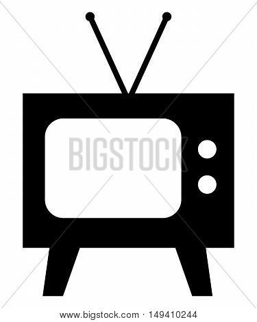 Tv Icon classic broadcasting isolated electric display