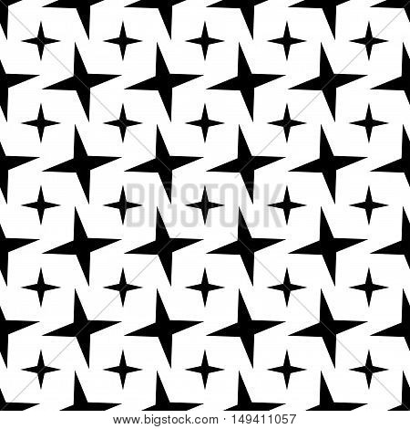 Seamless Star Pattern. Seamless pattern with stars. Vector illustration. All in a single layer. Seamless monochrome star pattern.