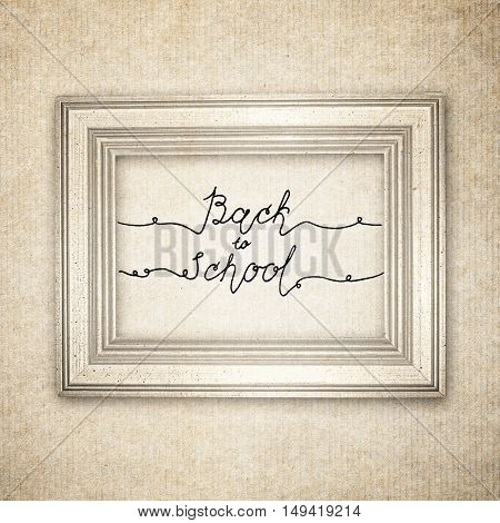 Hand Drawn Sketch Of The Books With Handwritten Text Back To School. Vintage Interior. Retro Backgro