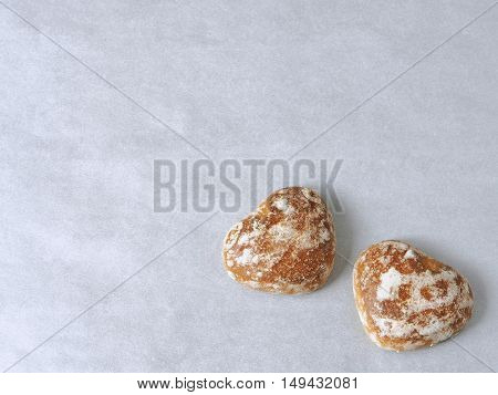 Ginger bread hearts upon