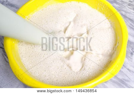 Preparation Of The Test On Home Cuisine For Pancakes