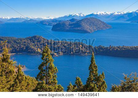 Bariloche Landscape In Argentina