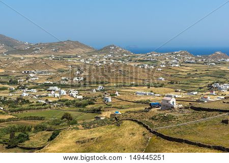 Amazing panorama of island of  Mykonos, Cyclades, Greece