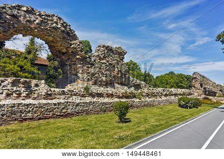 Ruins of Roman fortifications in Diocletianopolis, town of Hisarya, Plovdiv Region, Bulgaria