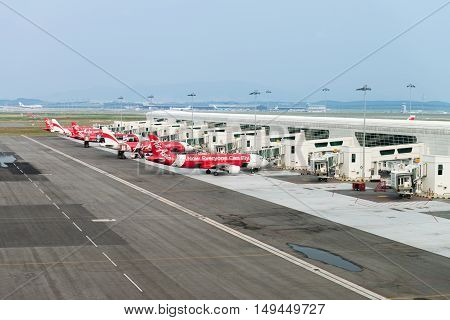 Low-cost Airplanes In International Airport