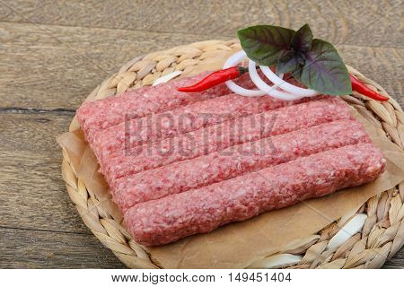 Raw Sausages For Grill